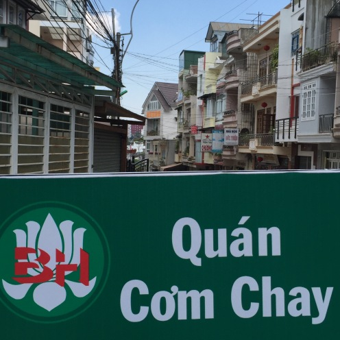 An Chay means vegetarian and Quan Chay means vegetarian restaurant.